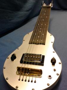6 String Small Body ES Black Guitar