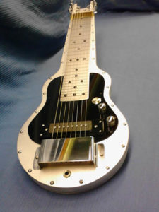 """Upgrade your Fouke Guitar with a 2"""" stainless handrest"""
